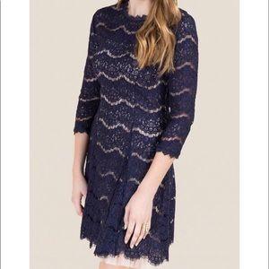 ✨NWT✨ Francesca's High-Neck Lace A-Line Dress